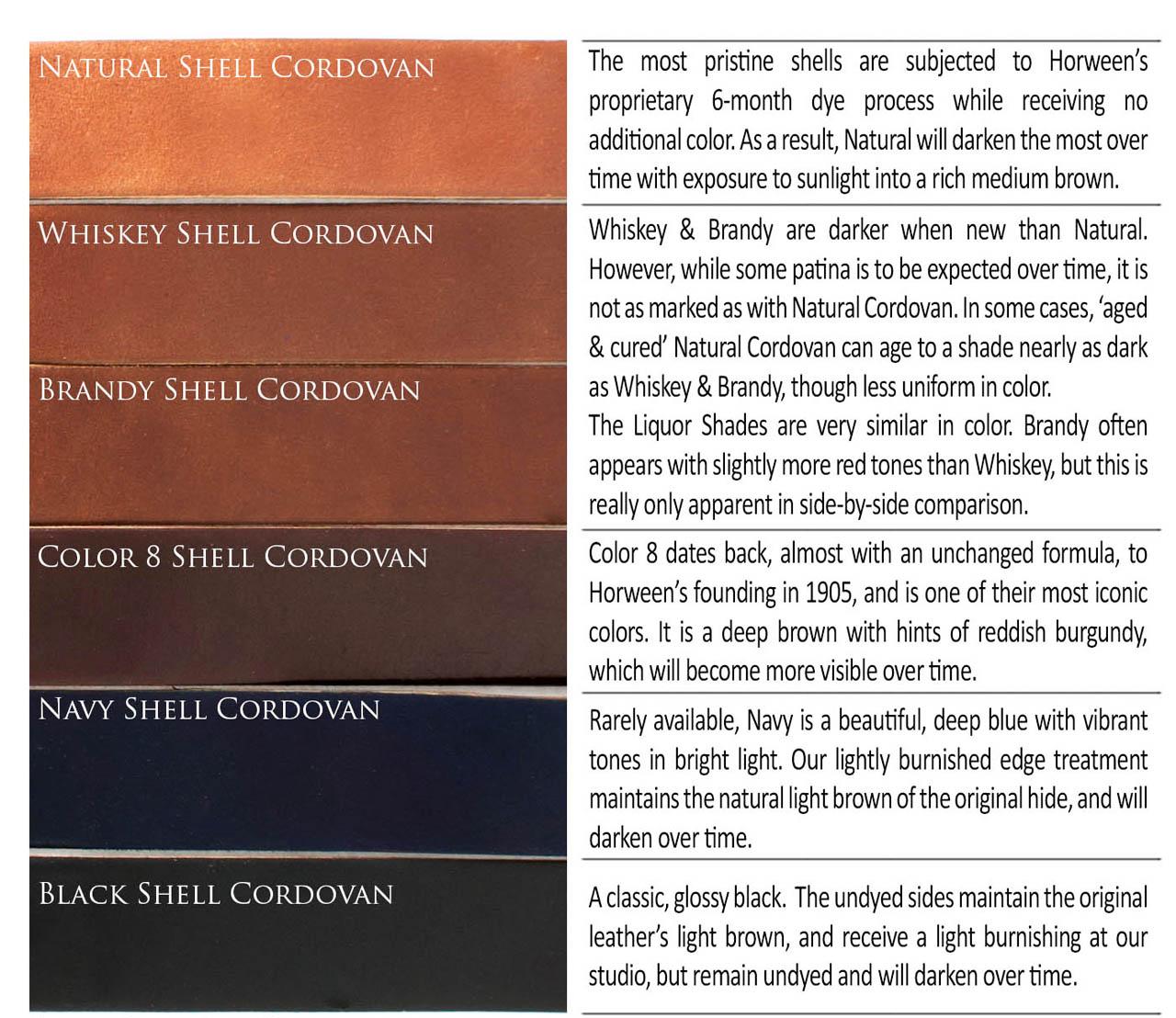 Horweens shell cordovan colours keikari horweens shell horweensshellcordovancoloursatkeikaridotcom nvjuhfo Gallery